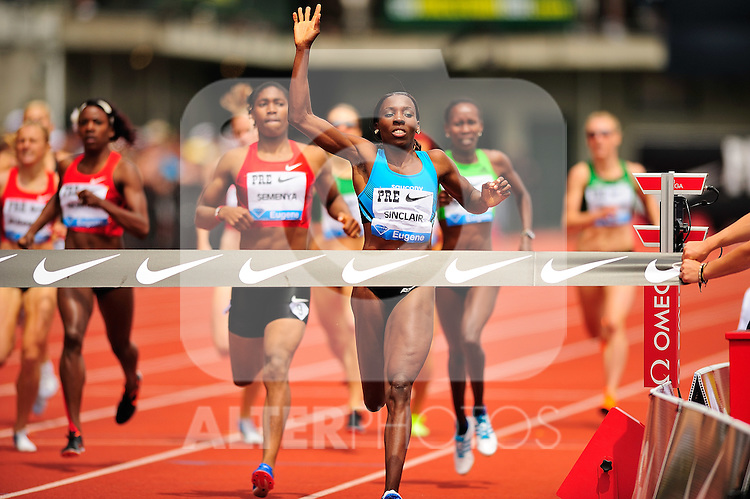 04.06.2011, Eugene, USA, Prefontaine Classic Track Meet, im Bild Kenia Sinclair (JAM) placed first in the women's 800m run with a time of 1:58.29 at the Prefontaine Classic at Hayward Field in Eugene, Oregon..June 4, 2011. EXPA Pictures © 2011, PhotoCredit: EXPA/ New Sport Photo +++++ ATTENTION - OUT OF USA  +++++