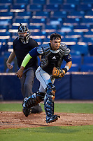 Mario Feliciano (6) of Carlos Beltran Baseball Academy in San Juan, Puerto Rico playing for the Tampa Bay Rays scout team during the East Coast Pro Showcase on July 27, 2015 at George M. Steinbrenner Field in Tampa, Florida.  (Mike Janes/Four Seam Images)