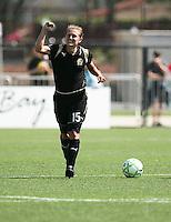 Tiffeny Milbrett celebrates her goal.  Washington Freedom defeated FC Gold Pride 4-3 at Buck Shaw Stadium in Santa Clara, California on April 26, 2009.