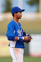 Wander Franco #32 of the AZL Royals during a game against the AZL Rangers at Surprise Stadium on July 15, 2013 in Surprise, Arizona. AZL Rangers defeated the AZL Royals, 3-2. (Larry Goren/Four Seam Images)