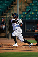 Jackson Generals Jeffrey Baez (33) at bat during a Southern League game against the Mississippi Braves on July 23, 2019 at The Ballpark at Jackson in Jackson, Tennessee.  Jackson defeated Mississippi 2-0 in the first game of a doubleheader.  (Mike Janes/Four Seam Images)