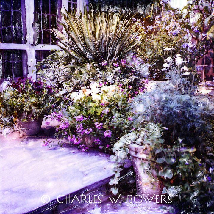 Wow - look at all those pots full of plants and flowers. It's a wonderful view from inside the home or when relaxing on the flagstone patio. Come join me.<br />