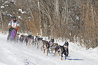 Musher Aaron Campbeli, 2007 Open North American Championship sled dog race (the world's premier sled dog sprint race) is held annually in Fairbanks, Alaska.