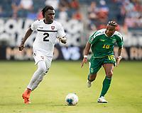 KANSAS CITY, KS - JUNE 26: Leland Archer #2, Neil Danns #16 during a game between Guyana and Trinidad
