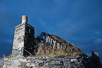Ruins of derelict croft house, Berneray, Western Isles, Scotland