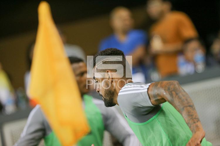 SAN JOSE, CA - AUGUST 31: Aníbal Godoy of the San Jose Earthquakes during a Major League Soccer (MLS) match between the San Jose Earthquakes and the Orlando City SC  on August 31, 2019 at Avaya Stadium in San Jose, California.