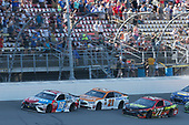Monster Energy NASCAR Cup Series<br /> FireKeepers Casino 400<br /> Michigan International Speedway, Brooklyn, MI USA<br /> Sunday 18 June 2017<br /> Kyle Busch, Joe Gibbs Racing, M&M's Red, White & Blue Toyota Camry Erik Jones, Furniture Row Racing, 5-hour ENERGY Extra Strength Toyota Camry Ryan Blaney, Wood Brothers Racing, Omnicraft Auto Parts Ford Fusion<br /> World Copyright: Matthew T. Thacker<br /> LAT Images