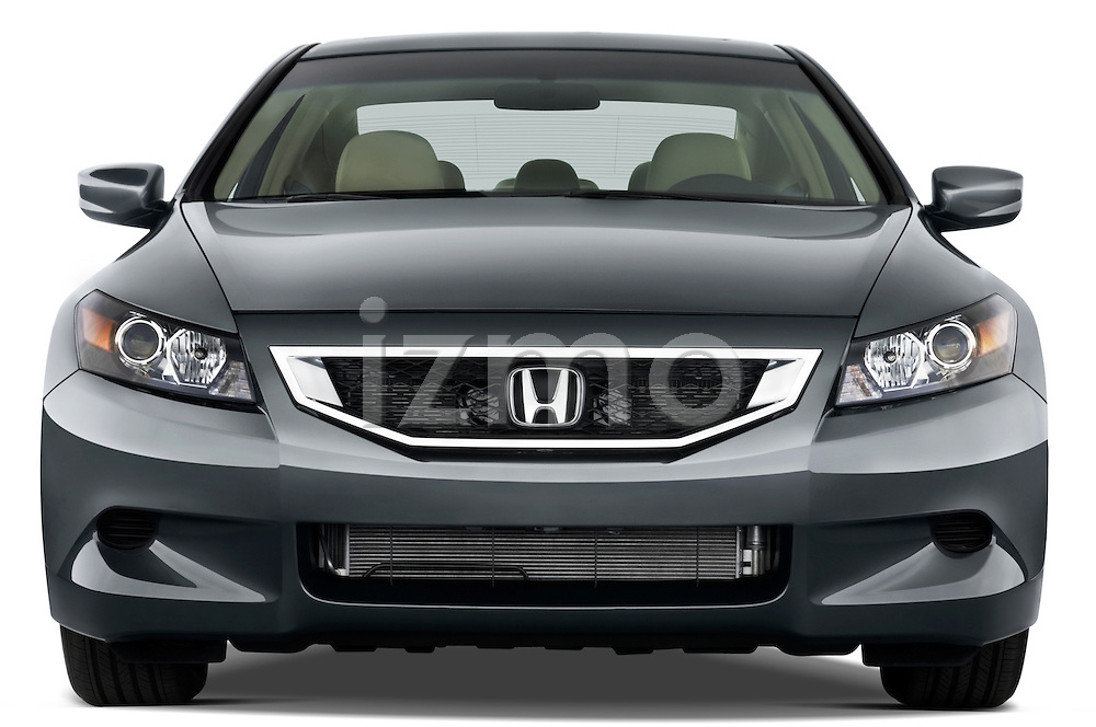 Straight front view of a 2008 Honda Accord Coupe