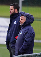 Genk's assistant coach Hans Bergans pictured during a female soccer game between the women teams of Zulte Waregem A Dames and KRC Genk Ladies B on the 1/16 th qualifying round for the Belgian Womens Cup 2020  2021 , on saturday 26 th of September 2020  in Zulte , Belgium . PHOTO SPORTPIX.BE | SPP | SEVIL OKTEM