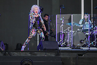 Cyndi Lauper performs at the Festival d'ete de Quebec (Quebec Summer Festival) on July 13, 2018.