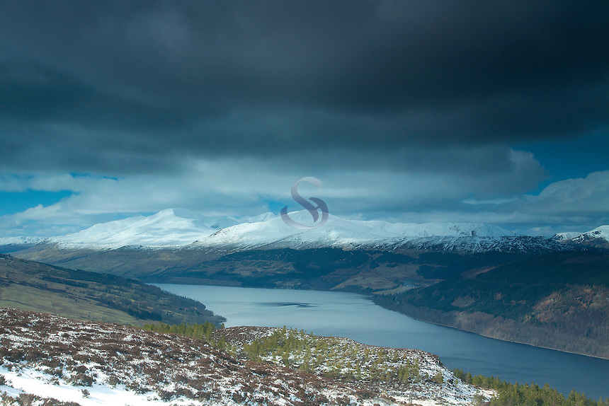 Ben Lawers and Loch Tay from Creag Fhudhair (Kenmore Hill) above Kenmore, Perthshire