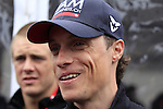 Sylvain Chavanel (FRA) IAM Cycling at the Team Presentations in Compiegne before the 2015 Paris-Roubaix cycle race held over the cobbled roads of Northern France. 11th April 2015.<br /> Photo: Eoin Clarke www.newsfile.ie