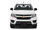 Car photography straight front view of a 2019 Chevrolet Colorado WT 4 Door Pick Up