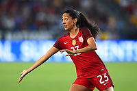 Carson, CA - Thursday August 03, 2017: Christen Press during a 2017 Tournament of Nations match between the women's national teams of the United States (USA) and Japan (JPN) at the StubHub Center.