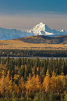 Mount Hayes, 13,832 ft, a prominent peaks in the Alaska Range mountains, Interior, Alaska.