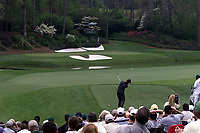 6th April 2001; Augusta, GA, USA; The Masters 2001 as Bernhard Langerplays to the green