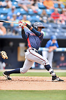 Rome Braves second baseman Kevin Josephina (24) swings at a pitch during a game against the Asheville Tourists at McCormick Field on June 25, 2017 in Asheville, North Carolina. The Braves defeated the Tourists 7-2. (Tony Farlow/Four Seam Images)