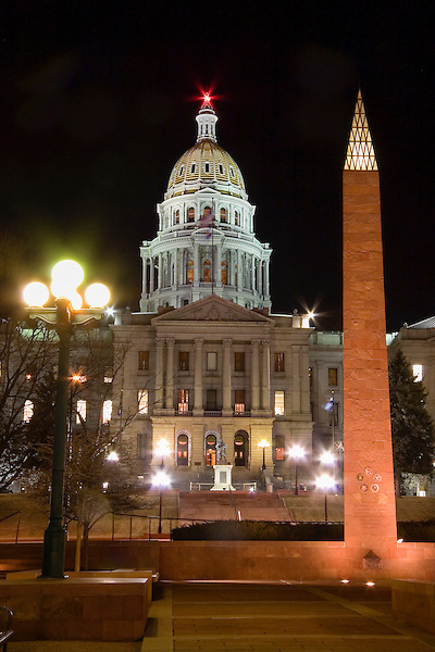 Colorado State Capitol and War Memorial, Denver, Colorado, USA John offers private photo tours of Denver, Boulder and Rocky Mountain National Park. .  John offers private photo tours in Denver, Boulder and throughout Colorado. Year-round Colorado photo tours.