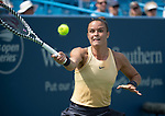 August 16,2019:   Maria Sakkari (GRE) loses to Ashleigh Barty (AUS) 5-7, 6-2, 6-0, at the Western & Southern Open being played at Lindner Family Tennis Center in Mason, Ohio.  ©Leslie Billman/Tennisclix/CSM