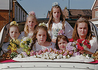 """Princess of Watton Twinning Association Jade Agent, attended by Miss Harriet Long, Miss Jessica Agent, Miss Hannah Crossley, Miss Alex Rolfe and Miss Marie Hutton<br /> <br /> """"The day began with a family worship event at 11am in Watton Pentecostal Church, before the town centre came alive with fairground games, childrenís rides and fund-raising charity stalls, with live music throughout the afternoon on a stage in Chaston Place."""""""