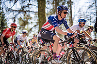 US champion Alex Howes (USA/EF Education - Nippo) up the Côte de Wanne<br /> <br /> 107th Liège-Bastogne-Liège 2021 (1.UWT)<br /> 1 day race from Liège to Liège (259km)<br /> <br /> ©kramon