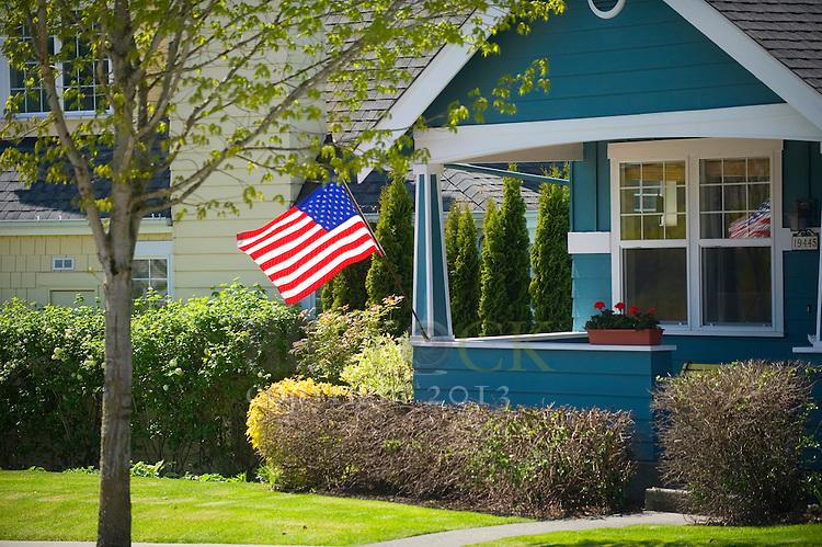 Patriotic Blue Home