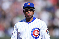 Chicago Cubs third baseman Luis Valbuena (24) during a game against the Milwaukee Brewers on August 14, 2014 at Wrigley Field in Chicago, Illinois.  Milwaukee defeated Chicago 6-2.  (Mike Janes/Four Seam Images)