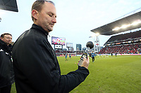 Toronto, Ontario - Saturday December 09, 2017: Fourth Official Kevin Stott takes a wet bulb reading before the game. Toronto FC defeated the Seattle Sounders FC 2-0 in MLS Cup 2017, Major League Soccer's (MLS) championship game played at BMO Field.