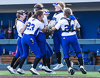 Rogers celebrates after beating Bentonville 2-1 at Rogers High School, Rogers, Arkansas, on Tuesday, April 6, 2021 / Special to NWA Democrat Gazette