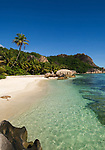 Seychelles, Island La Digue, Anse Pierrot: secluded beach in the southwest<br />