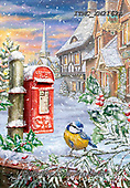 Marcello, CHRISTMAS ANIMALS, WEIHNACHTEN TIERE, NAVIDAD ANIMALES, paintings+++++,ITMCXM2162A,#xa# ,post box