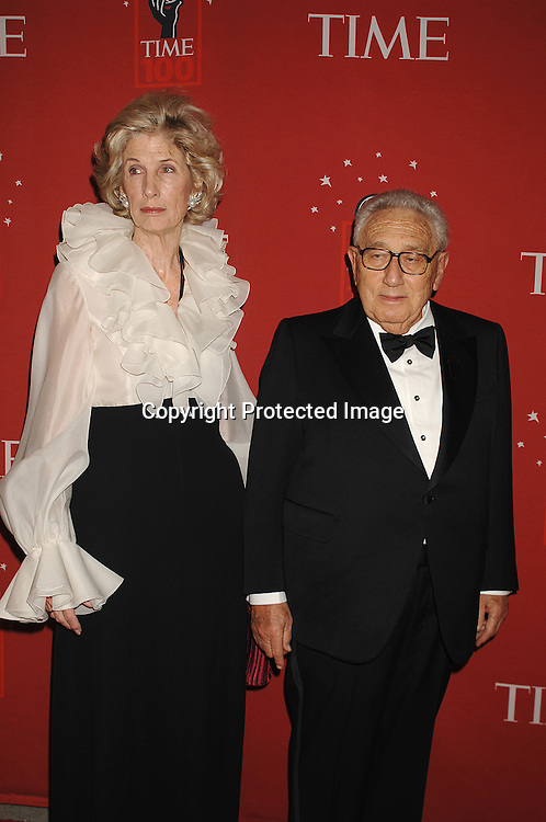 Nancy and Dr Henry Kissinger..arriving at The Time's 100 Most Influential People in the world on May 8, 2007 at Jazz at Lincoln Center atThe Time Warner Center in New York City. ..Robin Platzer, Twin Images......212-935-0770