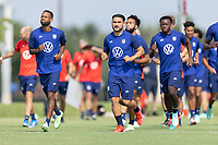 FRISCO, TX - JULY 20: USMNT during a training session at Toyota Soccer Center FC Dallas on July 20, 2021 in Frisco, Texas.