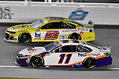 #11: Denny Hamlin, Joe Gibbs Racing, FedEx Office Toyota Camry and #53: Josh Bilicki, Rick Ware Racing, Chevrolet Camaro