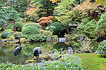 Strolling Pond Garden, a peaceful interlude in the Portland, Oregon, Japanese Garden.  The Japanese Garden in Portland is a 5.5 acre respit.  Said to be one of the most authentic Japanese Garden's outside of Japan, the rolling terrain and water features symbolize both peace and strength.