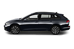 Car Driver side profile view of a 2021 Volkswagen Golf-Variant Life-HEV 5 Door Wagon Side View