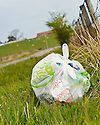 DISCARDED LITTER AT A LAY BY ON THE B822 TOWARDS FINTRY.