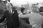 Peace Movement. Peace People. Peace March. Lord Longford and /// Trafalgar Square. 1976...My ref /1480/, 1976,