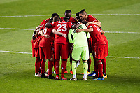 HARRISON, NJ - SEPTEMBER 23: HARRISON, NJ - Wednesday, September 23, 2020: Toronto FC Team Huddle during a game between New York City FC and Toronto FC on September 23, 2020 at Red Bull Arena in Harrison, New Jersey during a game between Toronto FC and New York City FC at Red Bull Arena on September 23, 2020 in Harrison, New Jersey.