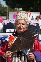 Bonnie Graft, Muckleshoot Indian Tribe, Auburn Days Parade, Auburn, WA, USA.