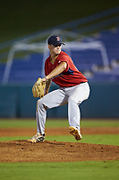 Starting pitcher Chase Petty (38) of Mainland Regional HS in Somers Point, NJ playing for the Boston Red Sox scout team during the East Coast Pro Showcase at the Hoover Met Complex on August 2, 2020 in Hoover, AL. (Brian Westerholt/Four Seam Images)