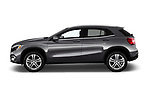 Car driver side profile view of a 2019 Mercedes Benz GLA 250 4MATIC 5 Door SUV
