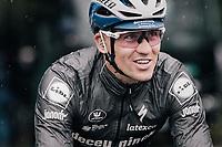 Zdenek Stybar (CZE/Deceuninck - Quick Step) at the race start in Compiègne<br /> <br /> 118th Paris-Roubaix 2021 (1.UWT)<br /> One day race from Compiègne to Roubaix (FRA) (257.7km)<br /> <br /> ©kramon