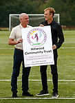 26.08.2019 Hillwood Community Trust football pitches: Ian Durrant and Tommy Coyne at Priesthill, Glasgow