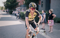 Lars Boom (NED/LottoNL-Jumbo) stopping his race after realising his upset stomach is making it impossible to continue<br /> <br /> 92nd Schaal Sels 2017 <br /> 1 Day Race: Merksem > Merksem (188km)