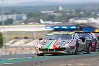 #54 AF Corse Ferrari 488 GTE EVO LMGTE Am, Thomas Flohr, Giancarlo Fisichella, Francesco Castellacci, 24 Hours of Le Mans , Race, Circuit des 24 Heures, Le Mans, Pays da Loire, France