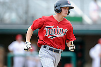 Second baseman Will Hurt (4) of the Elizabethton Twins in a game against the Johnson City Cardinals on Sunday, July 27, 2014, at Howard Johnson Field at Cardinal Park in Johnson City, Tennessee. The game was suspended due to weather in the fifth inning. (Tom Priddy/Four Seam Images)
