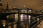 A wintry night in Stockholm, Sweden. Jan. 3, 2008.