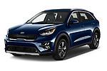 2020 KIA Niro-Plug-In-Hybrid EX-Premium 5 Door Hatchback Angular Front automotive stock photos of front three quarter view