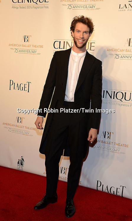 James Whiteside attends the Opening Night of American Ballet Theatre 2014 Fall Gala on October 22,2014 at the David Koch Theater at Lincoln Center in New York City. <br /> <br /> photo by Robin Platzer/Twin Images<br />  <br /> phone number 212-935-0770
